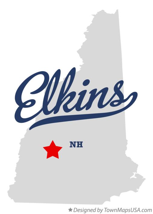 Map of Elkins New Hampshire NH