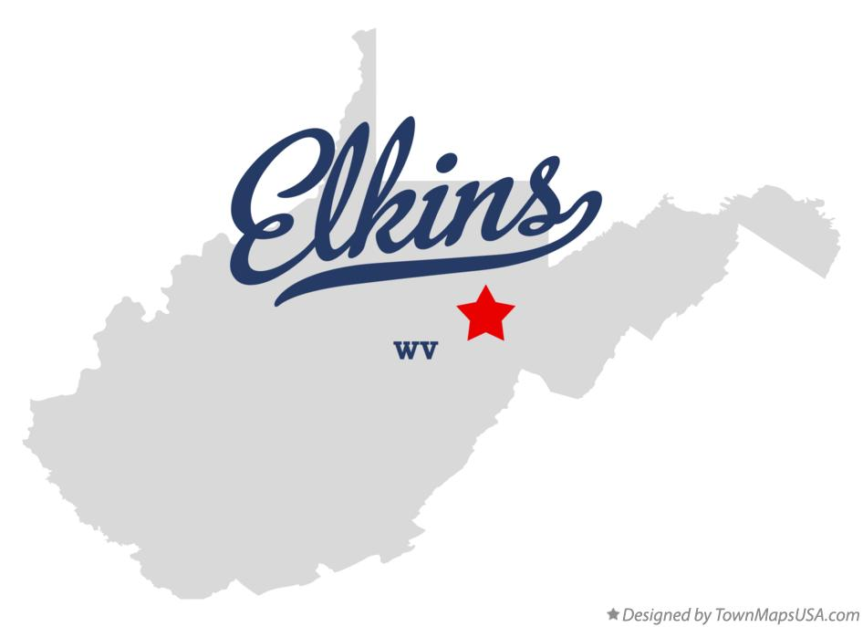 Map of Elkins West Virginia WV