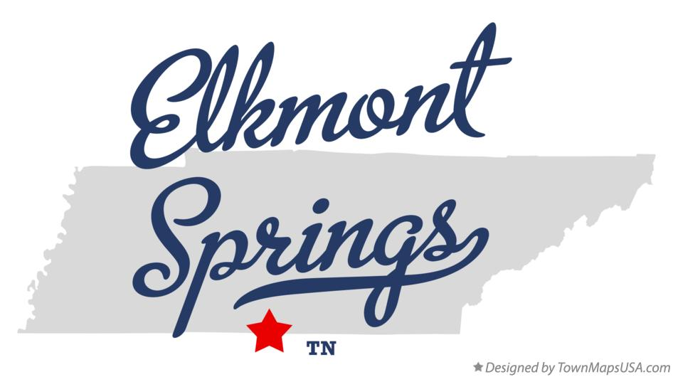 Map of Elkmont Springs Tennessee TN