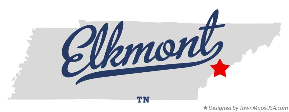 Map of Elkmont Tennessee TN