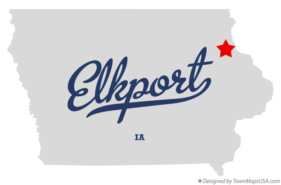 Map of Elkport Iowa IA