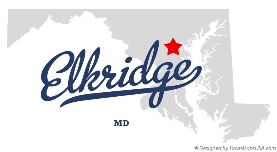 Map of Elkridge Maryland MD