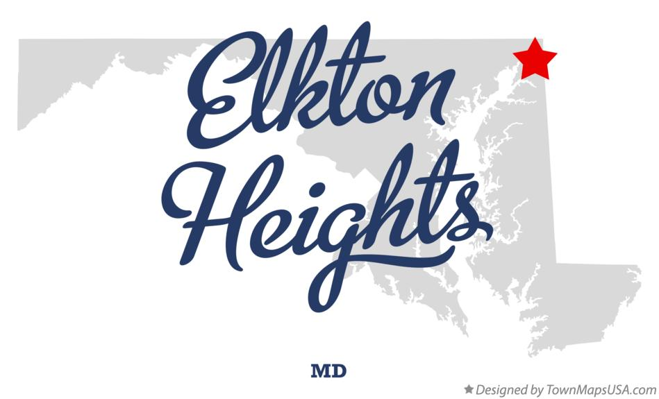 Map of Elkton Heights Maryland MD