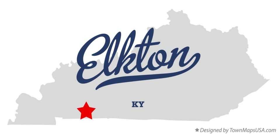 Map of Elkton Kentucky KY