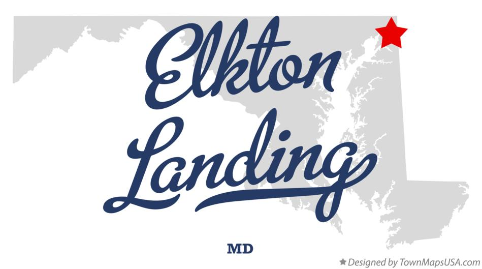 Map of Elkton Landing Maryland MD