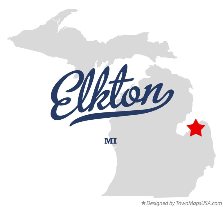 Map of Elkton Michigan MI