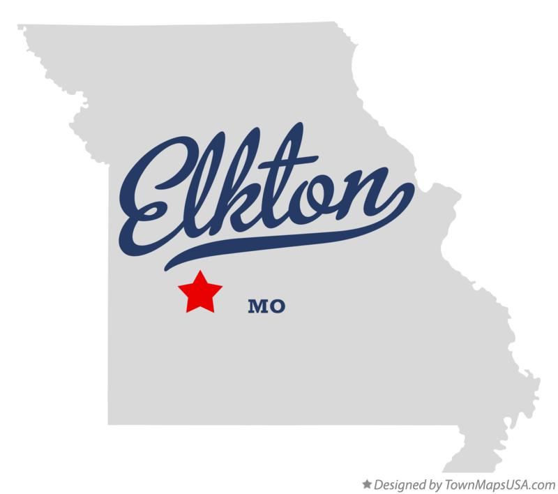 Map of Elkton Missouri MO