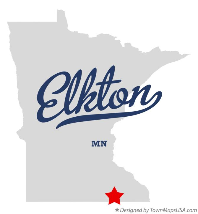 Map of Elkton Minnesota MN