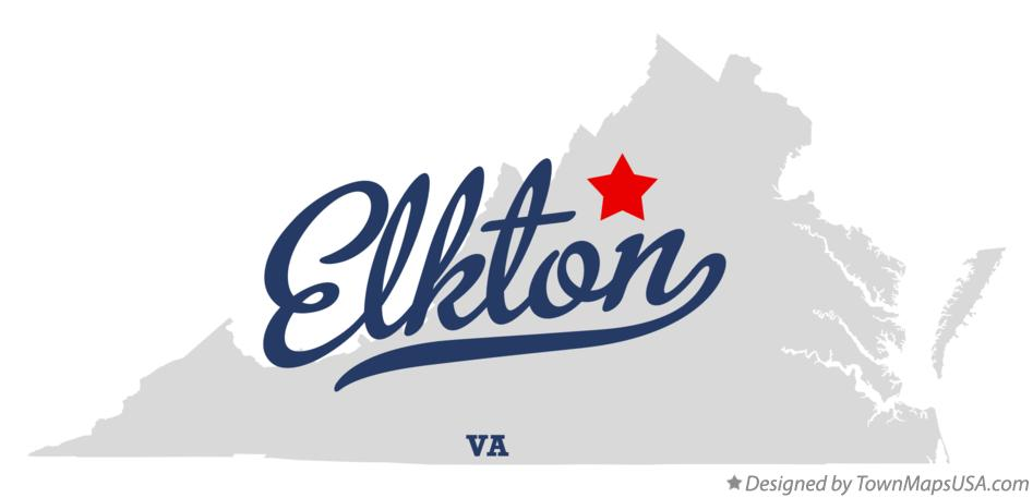 Map of Elkton Virginia VA