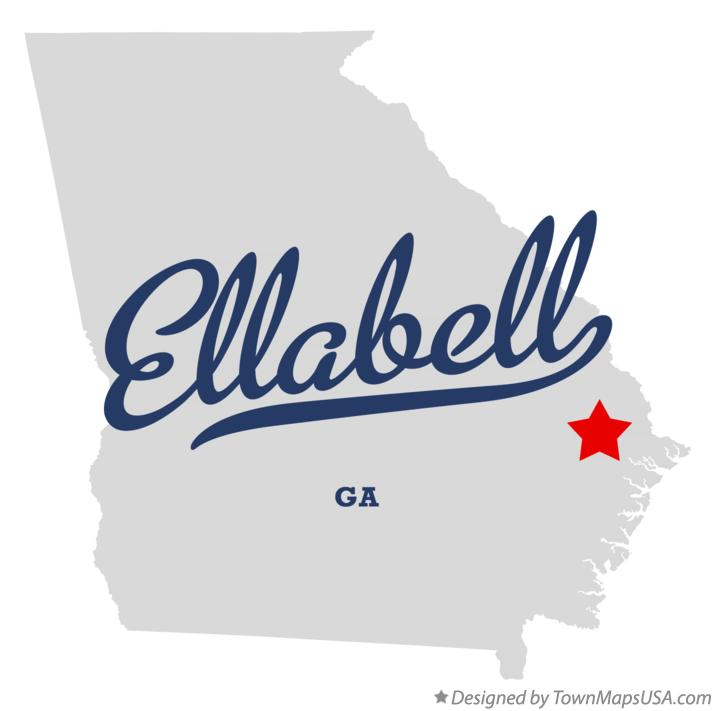 Map of Ellabell Georgia GA