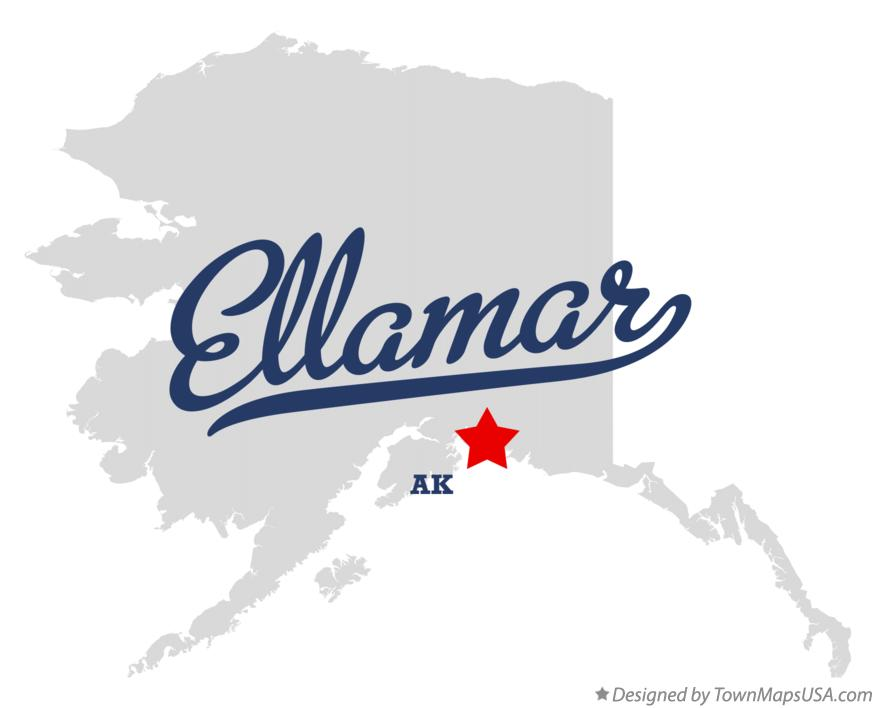 Map of Ellamar Alaska AK