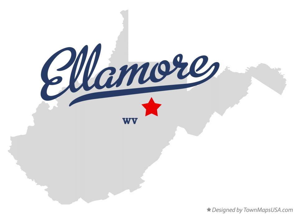 Map of Ellamore West Virginia WV