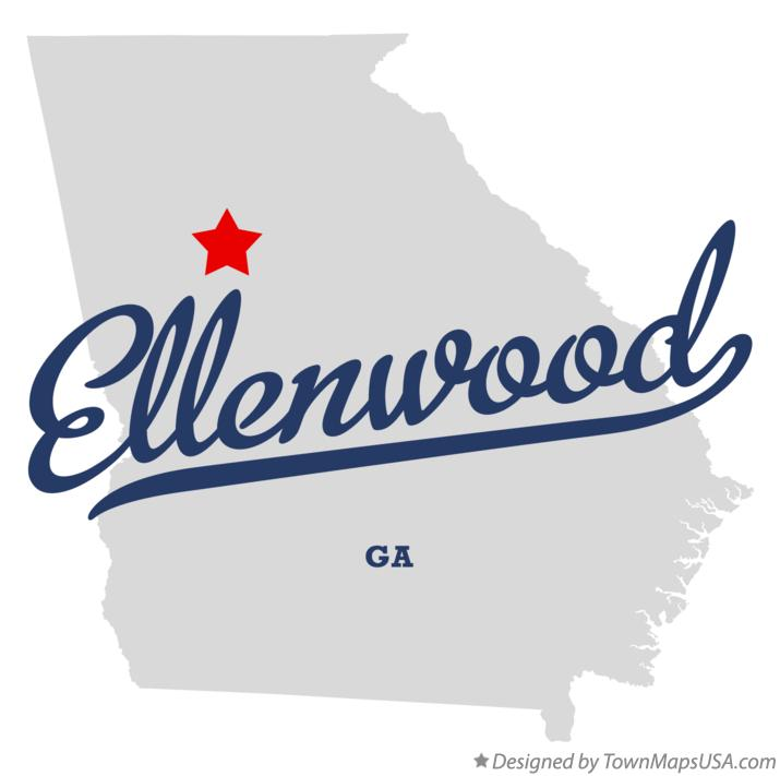 Map of Ellenwood Georgia GA