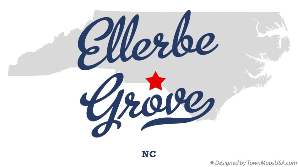 Map of Ellerbe Grove North Carolina NC