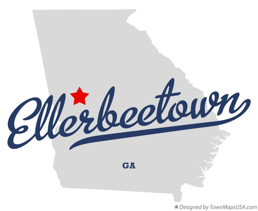 Map of Ellerbeetown Georgia GA
