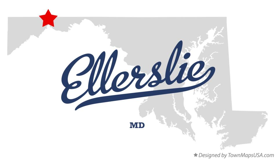 Map of Ellerslie Maryland MD