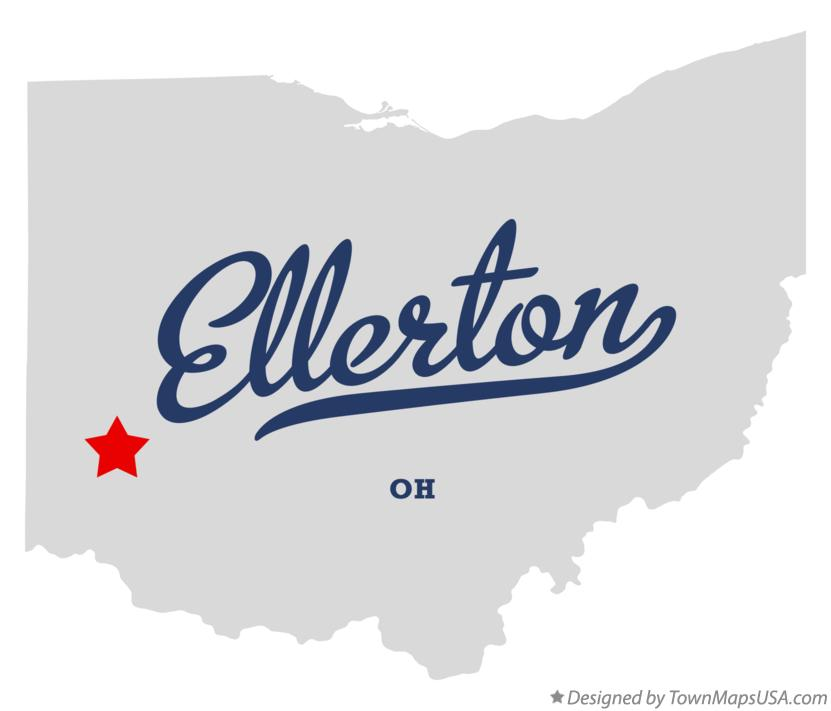 Map of Ellerton Ohio OH