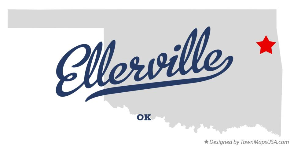 Map of Ellerville Oklahoma OK