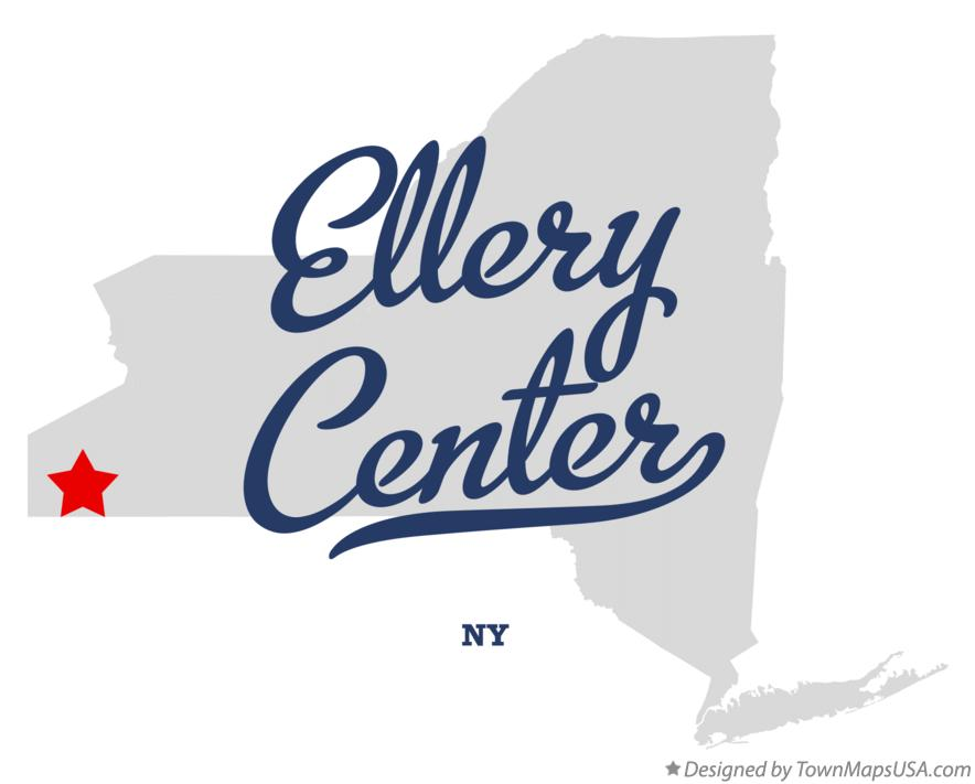 Map of Ellery Center New York NY