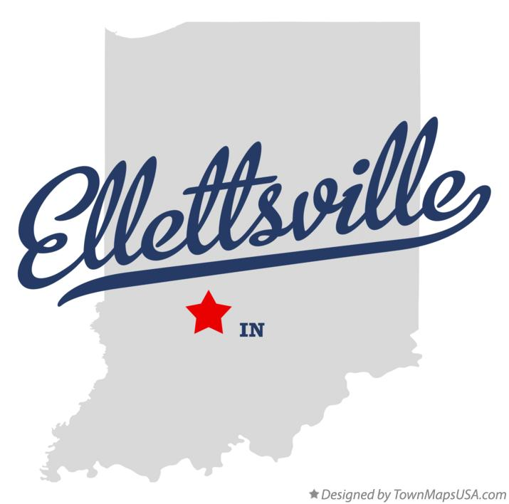 Map of Ellettsville Indiana IN