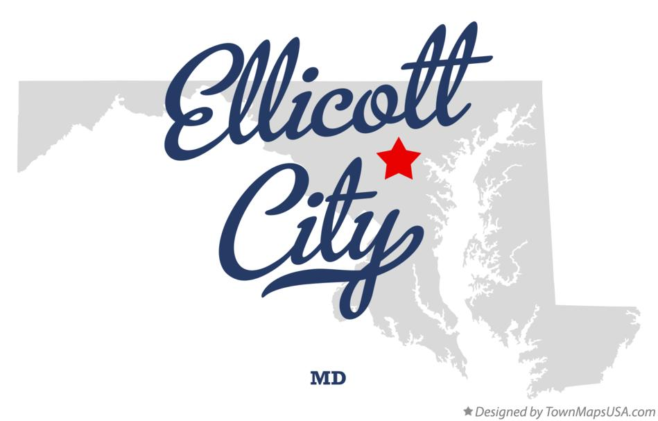 Map of Ellicott City Maryland MD
