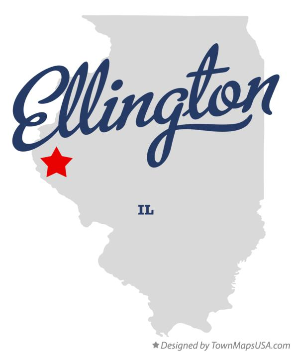 Map of Ellington Illinois IL
