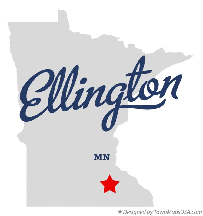 Map of Ellington Minnesota MN
