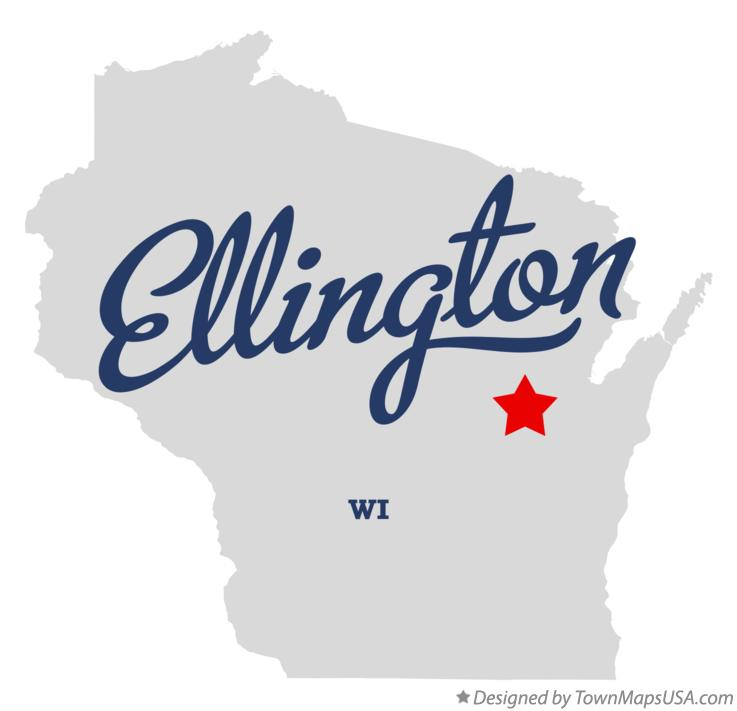 Map of Ellington Wisconsin WI
