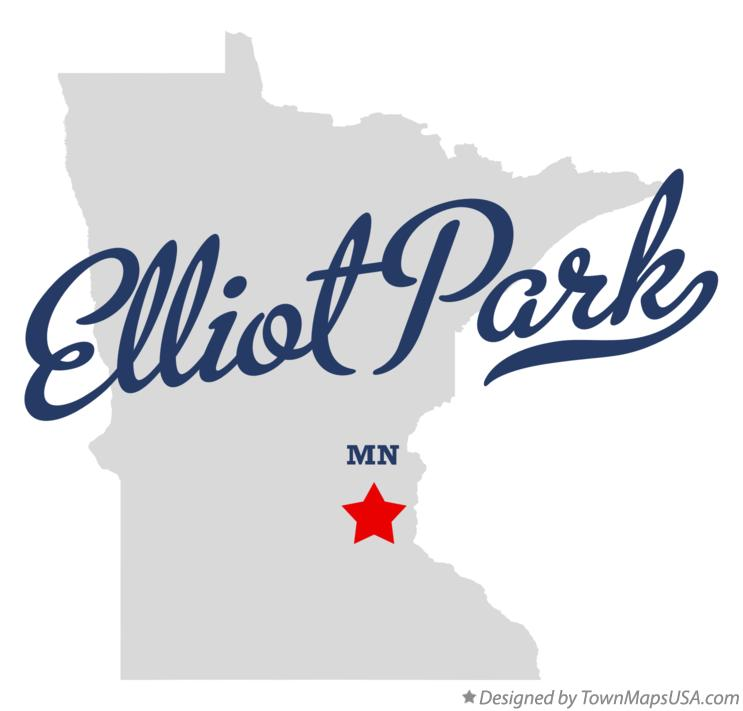 Map of Elliot Park Minnesota MN