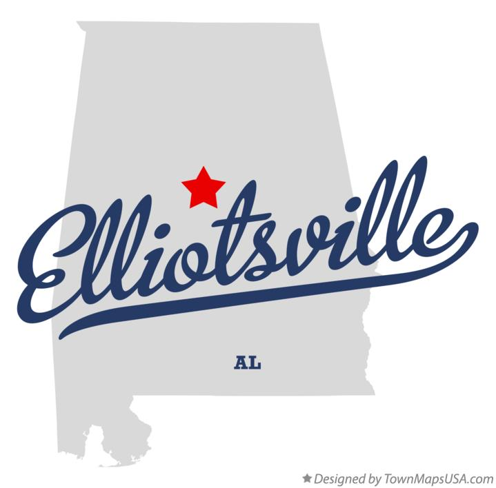 Map of Elliotsville Alabama AL