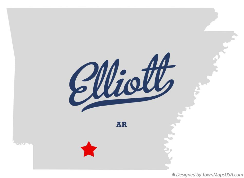 Map of Elliott Arkansas AR