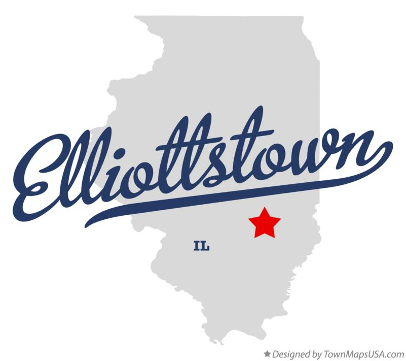 Map of Elliottstown Illinois IL