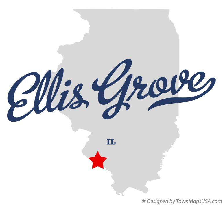Map of Ellis Grove Illinois IL