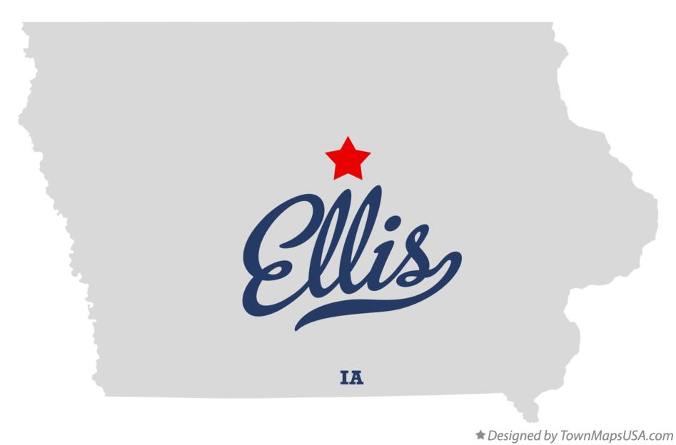 Map of Ellis Iowa IA