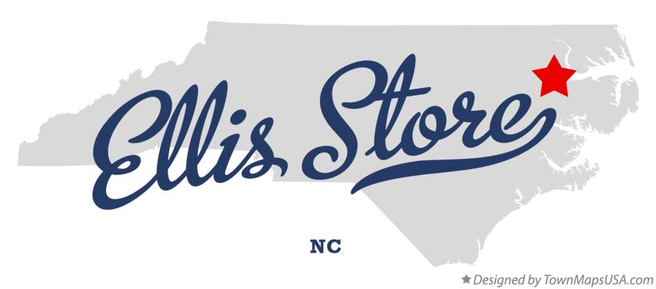 Map of Ellis Store North Carolina NC