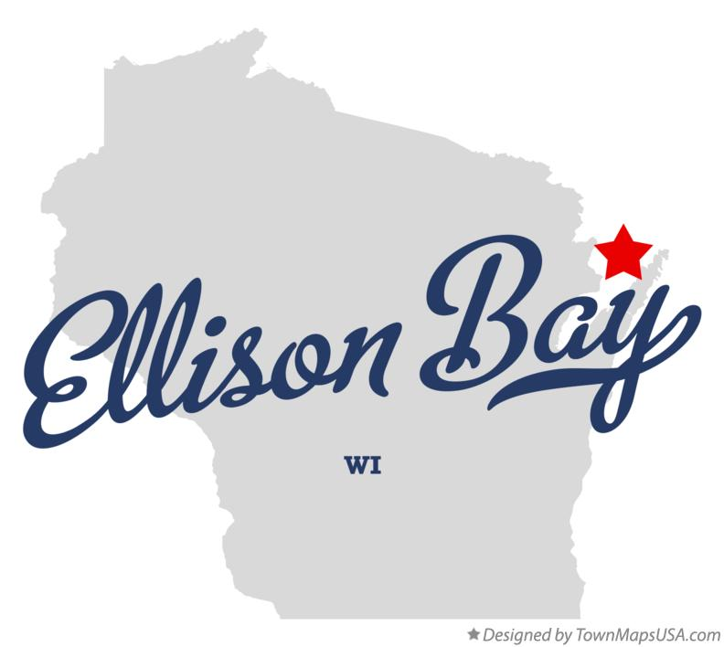 Map of Ellison Bay Wisconsin WI