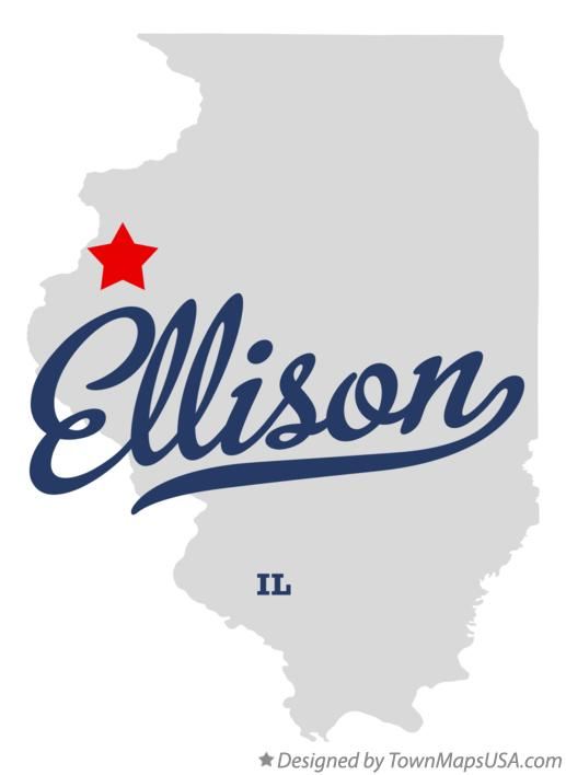 Map of Ellison Illinois IL