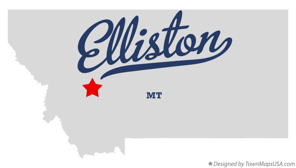 Map of Elliston Montana MT