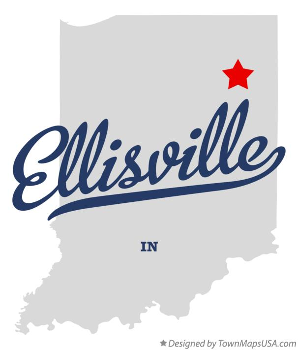 Map of Ellisville Indiana IN