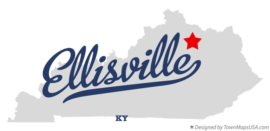 Map of Ellisville Kentucky KY