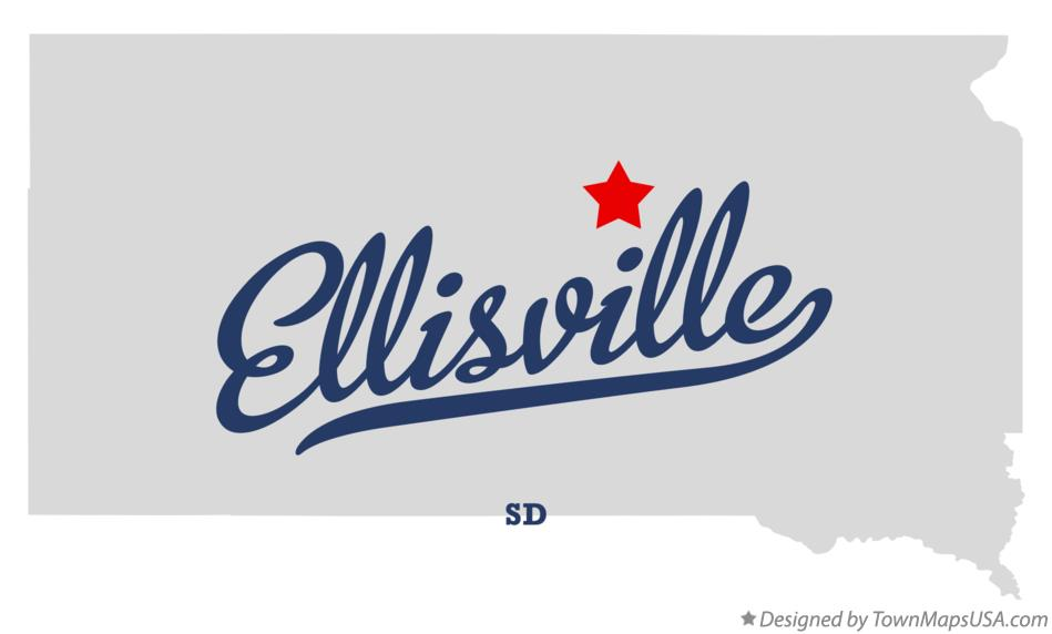 Map of Ellisville South Dakota SD