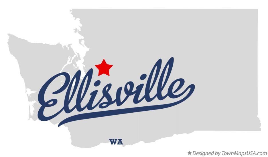 Map of Ellisville Washington WA