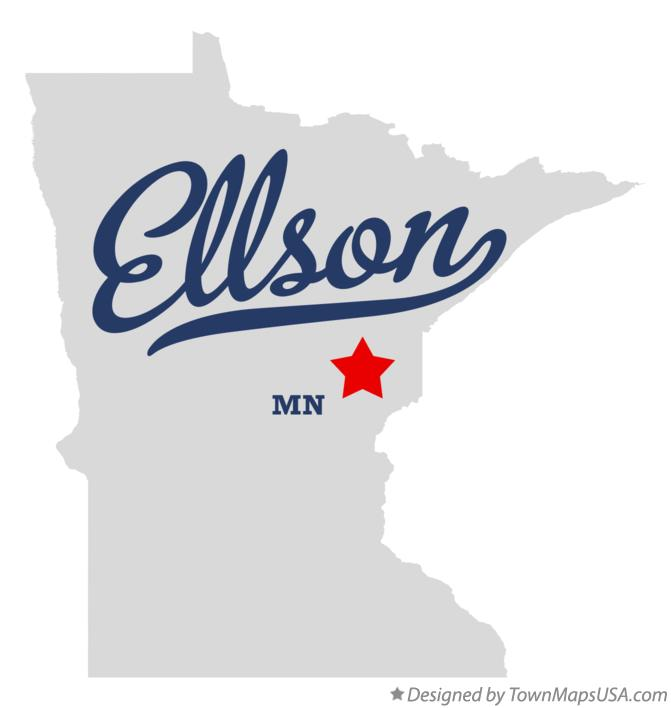 Map of Ellson Minnesota MN