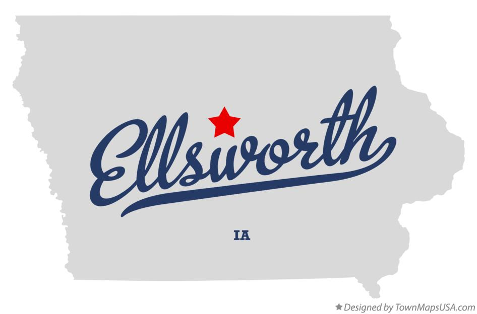 Map of Ellsworth Iowa IA