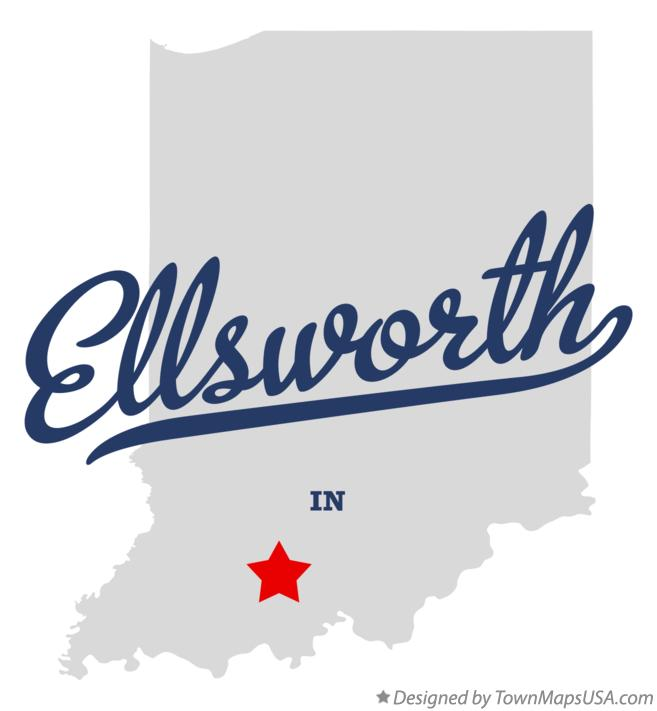 Map of Ellsworth Indiana IN