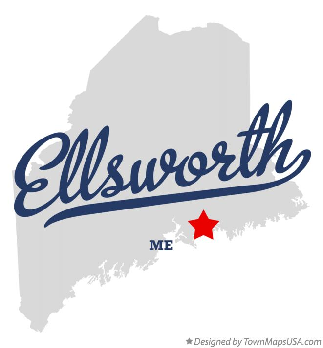 Map of Ellsworth Maine ME