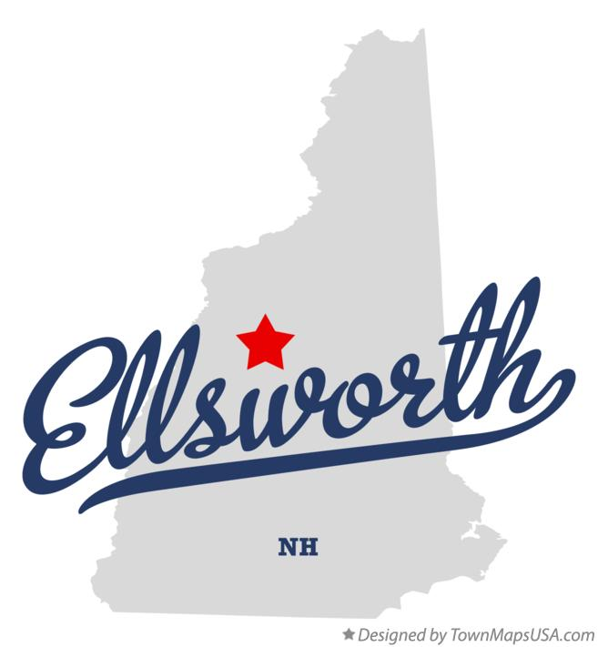 Map of Ellsworth New Hampshire NH