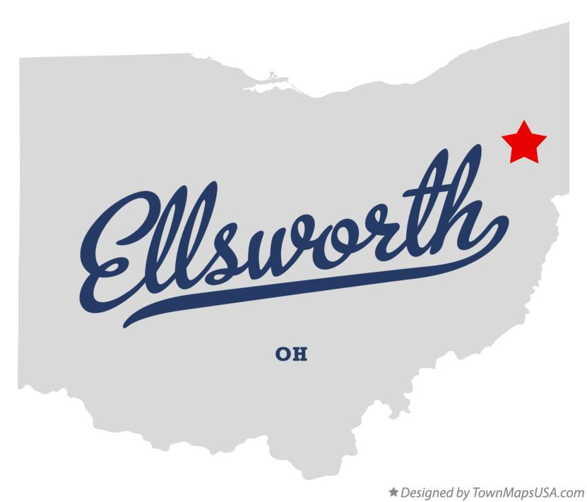 Map of Ellsworth Ohio OH