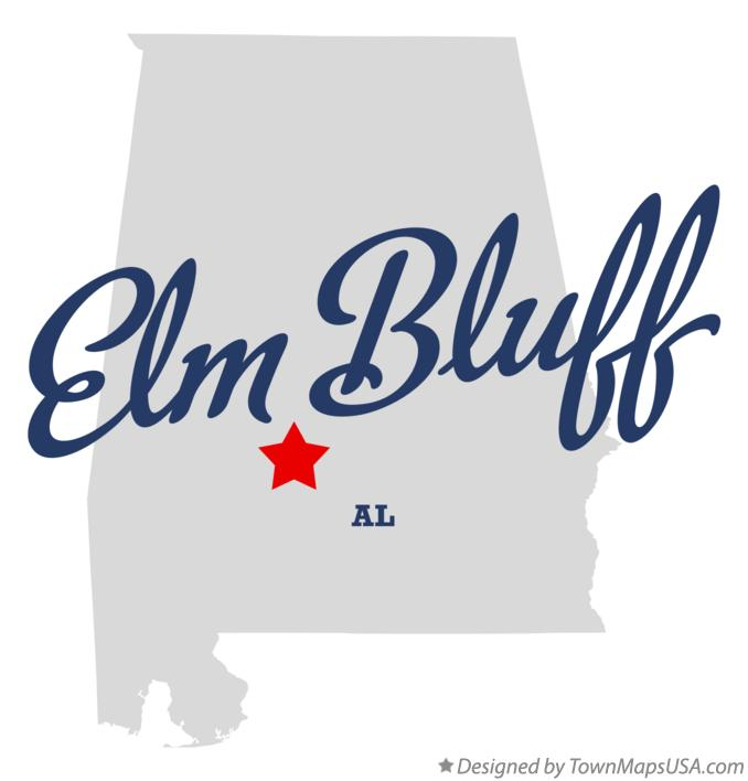 Map of Elm Bluff Alabama AL