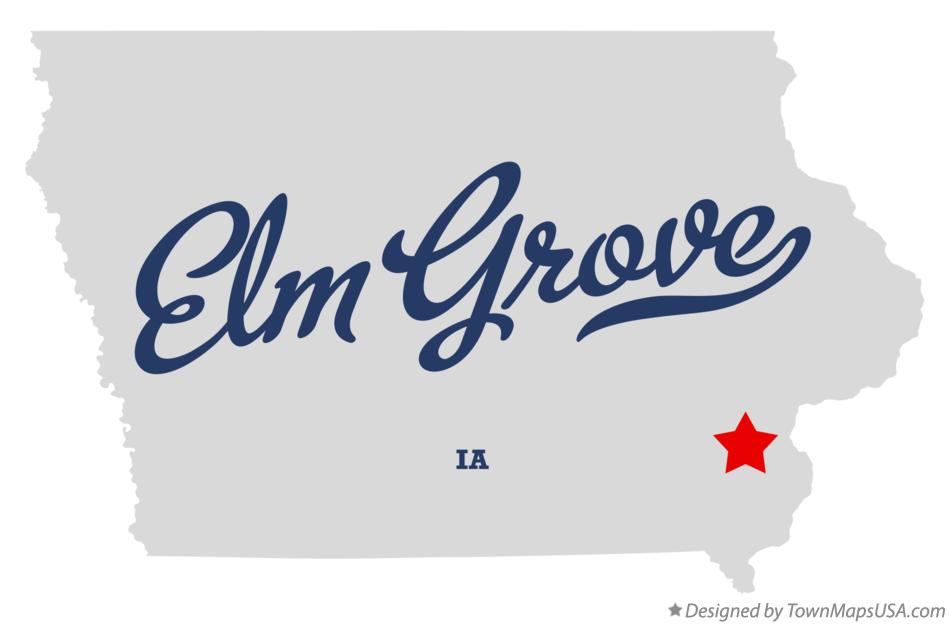 Map of Elm Grove Iowa IA